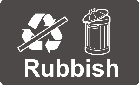 Recycling Sticker - Rubbish