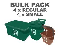 BULK PACK - Bin Numbers - 4 x Regular 4 x Small